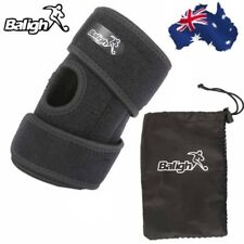 Kids Adjustable Black Knee Support Brace Protector Strap Running Basketball Gym