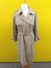 Womens Retro Rain Mac - Uk14 - Beige - Double Breasted - Good Condition