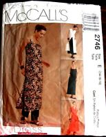 McCall's sewing pattern no. 2746 ladies over dress size  14