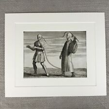 Rare 18th Century Engraving Picart Moubach Chinese Punishment Criminal Crime