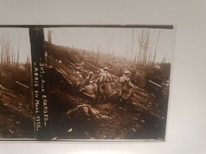 plaque photo verre positif militaria Aux éparges 1915  ww1 14/18 **