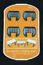 Wilton Dracula Vampire Fangs 6-Cavity Cookie NonStick Halloween Cake Pan