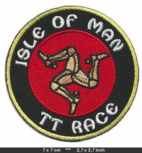 ISLE OF MAN Patch Embroidered Sew Iron Motorbikes Biker TT Race England v1