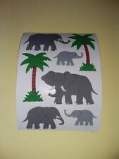 🦁💙Sandylion BIG Abriss Elefanten Stoff Fuzzy Scrapbooking Sticker💚🦁