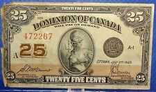 Dominion of CANADA 25 Cents 1923 McCavour-Saunders #16