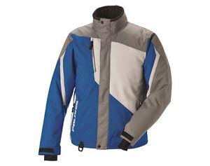 286772209 Polaris snowmobile Mens Ripper Jacket Blue Gray X-LARGE 2867722