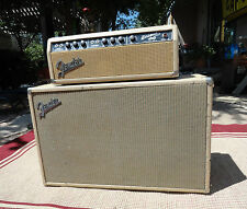 1963 Fender Blonde Bassman  Head Amp Amplifier with Cabinet-Nice Original Shape
