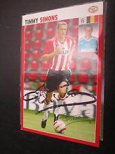 16800 Timmy Simons PSV Eindhoven Belgien WM original signierte Autogrammkarte