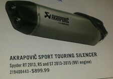 CAN AM AKRAPOVIC SPORT TOURING SILENCER (RT,RS,ST) 219400443