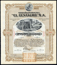 "Mexico: Compania Petrolera ""El Centauro"" S.A., 50 shares of $1, 1916, with co..."
