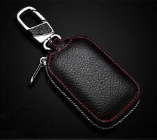 Remote FOB Zipper Case Smart Clé Couvercle Porte-clés de voiture Chaîne Sac en cuir véritable