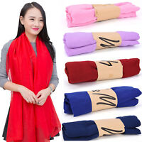 Women Long Candy Colors Soft Cotton Scarf Wrap Shawl Scarves SEA Fy