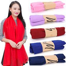 Mujeres caramelo largo colores suave algodón bufanda chal bufanstG