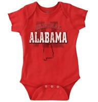 Alabama Student University Football College Newborn Romper Bodysuit For Babies