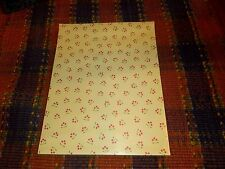 """1 Pk of 50 sheets- Red Floral- Green Scrapbook Paper 8.5"""" x 11"""""""