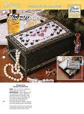 Ivy Hearts ~ Jewelry Box plastic canvas pattern