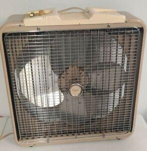 RARE Vintage Frigid OSC20 Oscillating Box Fan With Thermodial Fridgid