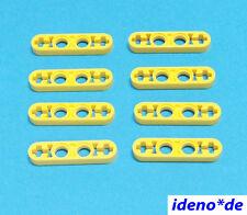 LEGO Technic Technology 8 pcs. Liftarm 1 x 4 Yellow Flat 32449 42009 NEW