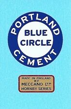 Hornby O Gauge Cement Wagon | Portland Cement | Reproduction Waterslide Decal