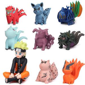 Naruto Bijuu Kyuubi Kitsune Houkou Sokou Anime Action Figure Kids Toy Gift 11Pcs