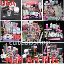 Professional Nail Art Acrylic Powder Liquid Primer Tips Practice Tool Full Set