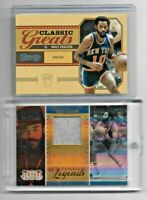 Lot of 2 New York Knicks Walt Frazier Relic Parallel #01/25 Basketball Cards