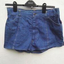 Vintage Shorts Indigo blue denim Rogues 'n' Rapture micro length