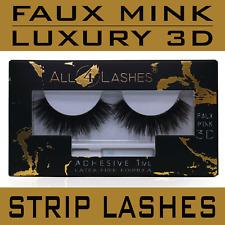 Diosa Mink Faux 3D tira de pestañas extensión de pestañas volumen Gruesa + Adhesivo
