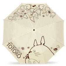 My Neighbor Totoro Folding Umbrella Anti-uv Sun Rain Sunscreen Anime Parasol New