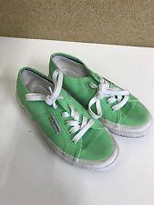 Women's Green SUPERGA Scarpe da ginnastica Taglia 3 in buonissima condizione Neon Verde RARA COLORAZIONE