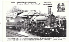 "Berkshire Postcard - Trains - Broad Gauge Train at Maidenhead - ""Dragon""  V2226"