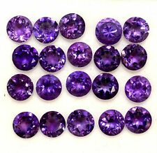 10 Piece Natural Amethyst 10x10 MM Faceted Round Shape Cabochon Loose Gemstone