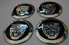 Jaguar hub caps badge emblème stickers metal 56.5mm lot de 4 haute qualité