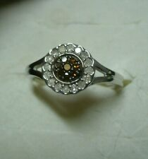 Red & White Diamond Ring Sz. 7 24 diamonds .25tcw MSRP$927