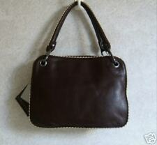 PLINIO VISONA Brown Leather Handbag Weekend Bag NWT