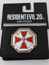 Resident Evil Umbrella Logo 20th Anniversary Metal Badge ID Holder Wallet NWT
