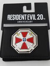 Resident Evil Umbrella Logo 20th Anniversary Metal Badge ID Holder Wallet NWT