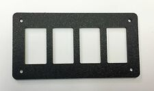 XTREME RACING BLACK ABS PLASTIC UNIVERSAL ROCKER SWITCH PANELS (4 SPOT) ATV UTV
