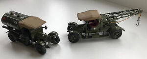 Matchbox 2 Rare Creaks of Camberley Y-13 1918 Crossley Tow and Water Trucks