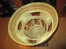 Sweetgrass Looped Stand Basket with Rim