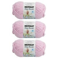 Bernat Baby Blanket Yarn (100G/3.5 OZ) Gauge 6 Super Bulky - 3 Pack