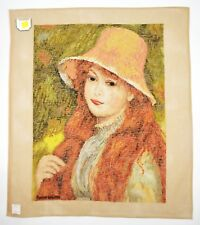 Lindhorst Tapisserie Needlepoint Young Girl with Long Hair Renoir Wall Tapestry