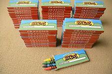50 Packs of Crayons Children 4 Pack Kids Coloring Diy Crafts Party Restaurants