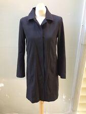 S Max Mara MaxMara Black Rain Jacket  Coat Mid Length Made In Italy Sz 4 EUC