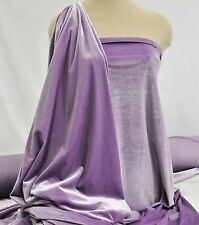 """VELVET STRETCH LILAC PURPLE  FABRIC.. FORMAL, GOWNS , SUITS, CRAFTS 60"""""""