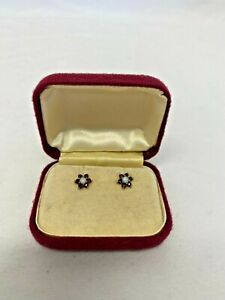 Gold Pearl And Ruby Stud Earrings (LOU)