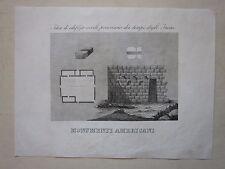 1845 ARCHITETTURA INCA Marmocchi Perù edilizia building edificio architecture