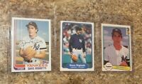 (3) Dave Righetti 1982 Topps Fleer Donruss Rookie Card Lot Yankees RC