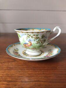 Stunning Vintage Royal Albert Chelsea Bird Demitasse Coffee Cup And Saucer