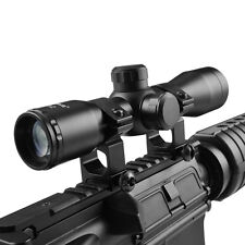 4X32 Riflescope Compact .223 .308 Mil Dot Ret. Scope w/ 20mm Mount Ring
